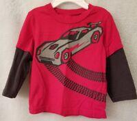 Circo Boys Red Gray Black Race Car Shirt Top Size 18 Month