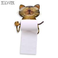 Cat Paper Towel Holder Vintage Cast Iron Dog Toilet Paper Holder Stand bathroom