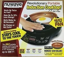 """NEW NuWave 2 Piece Precision Portable Induction Cooktop with 9"""" Ceramic Pan"""