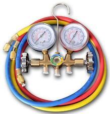 A/C Refrigeration HVAC Charging Manifold Gauge Kit For R12 R22 R132 R600a R404a