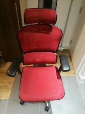 Ergohuman red mesh and chrome office chair - Excellent condition.