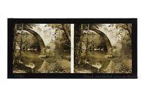 Pont Sur Le Lotto Francia Foto Stereo Placca Da Lente Vintage 1935