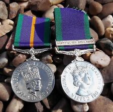 British Army Officer Replacement Medal Pair Named Copy Medals Captain RLC ACC