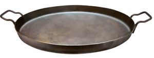 """22"""" Steel Cooking Discada with 1-1/2"""" Sides and Flat Bottom"""