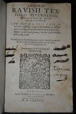 Ravisius Textor – Epithetorum – Paris 1587