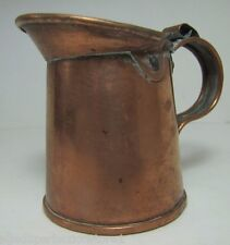 Old Small Pitcher Measure tin with copper wash small decorative kitchenware