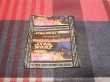 STAR WARS Wrapper Chewing Bubble GUM SPAIN SPANISH PANINI TATTOOS CARD