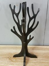 Ornamental Hand Carved Jewellery Display Tree Holder Stand Nature Wood Chocolate
