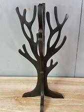 Ornamental Hand Carved Jewellery Display Tree Holder Stand Nature Wood Chocolate