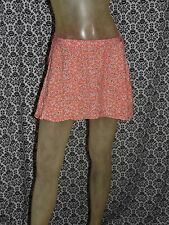 Wet Seal Orange w White Floral Pattern A Line Skirts Skirt Womens SMALL USED