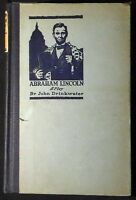 Abraham Lincoln: A Play by John Drinkwater Hbk 1919 Riverside Press VG