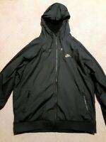 Mens Nike windrunner jacket (winterized) black and gold size Large Pre-Owned
