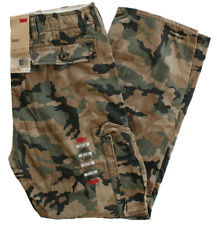 NEW MENS LEVIS RELAXED FIT ACE CARGO PANTS GREEN CAMOUFLAGE 124620001 ALL SIZES