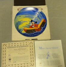 """Knowles Collectibles Disney Fantasia #4 """"Mickey's Magical Whirlpool"""" Coa 50th an"""