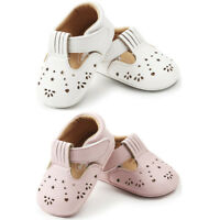 Baby Girls Princess Leather Shoes Hollow Out Infant Toddler First Walkers Shoes