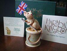 Harmony Kingdom Dior Mouse on Green Thread Marble Resin Box Figurine UK Made