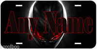 Alien Red Eye Novelty Car Black Any Name Personalized License Plate