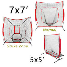 Baseball Training Aids Net Softball Practice W/Bow Frame Bag 7'×7' / 5'×5'