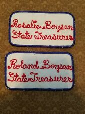 Good Sam Texas sew on patch state treasurer Rosalie Roland Boysen name tags