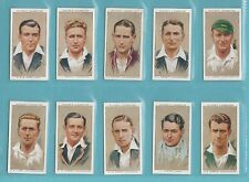 CRICKET  -  PLAYERS  -  SET  OF  50  CRICKETERS,  1934  CARDS  -  1934