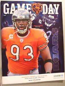2008 Chicago Bears Minnesota Vikings Program New Adewale Ogunleye Cover