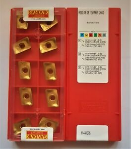 10x SANDVIK CARBIDE INSERTS R390-18 06 12M-MM  Grade 2040