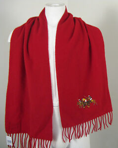 NEW Vintage Polo Ralph Lauren Big Pony Match Player Winter Scarf!   Red or Black