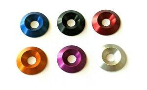 M6 x 22mm x 4mm Countersunk Washers Anodised Aluminium