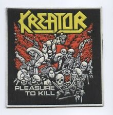 Kreator Pleasure to Kill synthetic 3D patch early 80's RARE