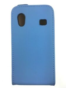UK Real Light blue Leather Case for Samsung Galaxy Ace GT-S5830 / GT-S5830i