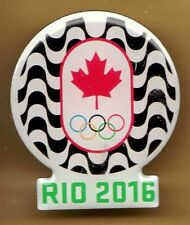 RIO 2016. OLYMPIC GAMES. NOC PIN. CANADA. WITH COPACABANA MOTIF