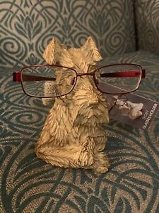 Next Digby Dog Terrier Glasses Stand Holder Natural Wood Effect Animal Ornament