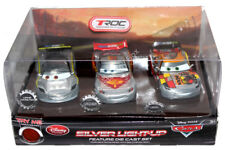 LUCE D'ARGENTO-Cars fino morire Cast 3 Set Cars Lewis Hamilton, Lightning McQueen-NUOVO