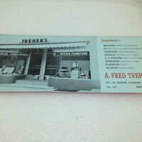 Vintage Trehers Office Supplies Furniture Easton PA Ink Blotter B