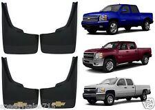 Genuine OEM GM Front + Rear Mud Flap Splash Guards For 2007-2013 Chevy Silverado