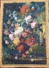 """Goblys Tapestry Gobelin Flamande Bouquet Size 60"""" X 42"""" Wall Hanging"""
