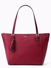 NWT Kate Spade Orchard Street Maya Tassel Large Tote Handbag, Rioja MSRP $428