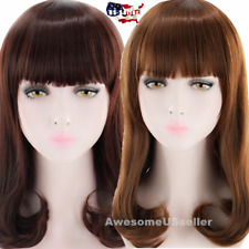 Women Cosplay Costume Party Hair Anime Wigs Medium Long Gift Curly Full Hair Wig