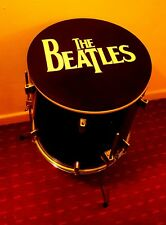 THE BEATLES Upcycled Floor Tom Drum Coffee/Side Table with storage inside