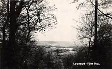 D26/ Fort Hill Ohio Real Photo Rppc Postcard Native Indian Mounds Lookout 1