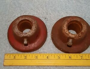 """2 VINTAGE MILO WEIGHT PLATE BARBELL COLLARS 1"""""""