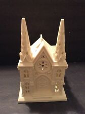 Partylite Ceramic Village Church Cathedral Tea Light Candle Holder Holiday Decor