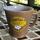 Neeco Coffee Soda Advertising D Handle Fire King Coffee Mug