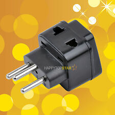 Swiss Switzerland 3 Pin Plug to 2 Splitter Universal UK/US/EU/AU Adapter AC Plug