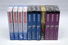 Lot of 11 Sony Maxell VHS Cassette Tapes T-120 6 & 8 Hours Standard Premium High