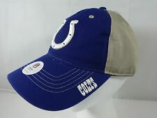 New Indianapolis Colts Adjustable Hat 2- Tone Tan & Blue NFL Football Cap