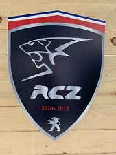 ENSEIGNE PEUGEOT logo RCZ  ( 50 cm x 45.cm )