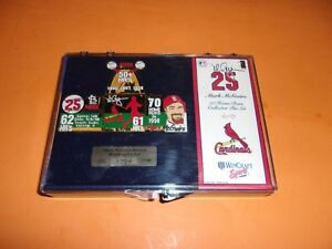1998 WINCRAFT MARK MCGWIRE 70 HOME RUNS COLLECTOR PIN SET #d OUT OF 5000 NEW