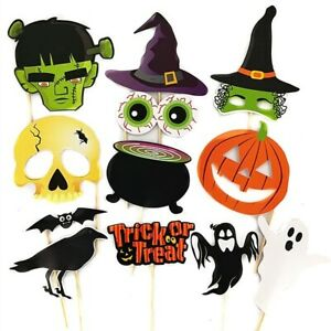 Ready Made 'Trick Or Treat' Halloween Props On Sticks Fun Party Photo Prop