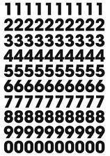 Autocollant stickers Chiffres autocollant noir 2,3 cm en planche